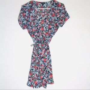 TOPSHOP Wrap Floral Dress Sz 8
